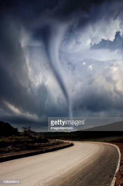 powerful tornado and twister