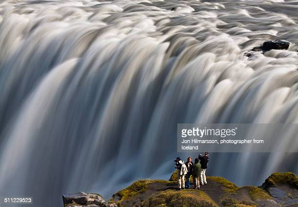 powerful waterfall - dettifoss waterfall stock photos and pictures