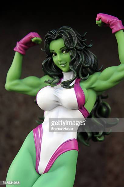 powerful woman - incredible hulk stock photos and pictures