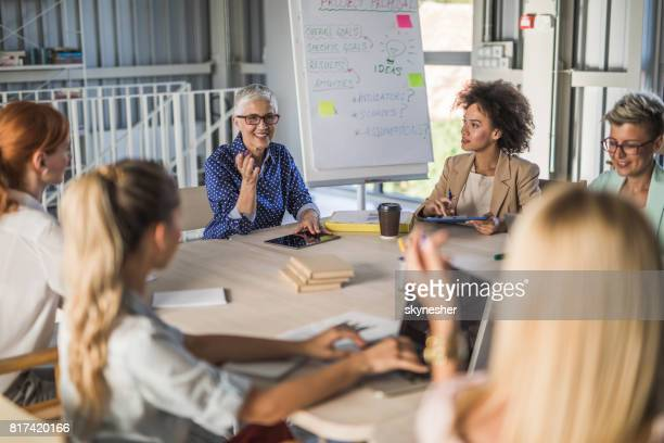 Powerful women on a business meeting!