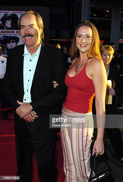 Powers Boothe and daughter during Ladder 49 World Premiere Arrivals at El Capitan Theatre in Hollywood California United States