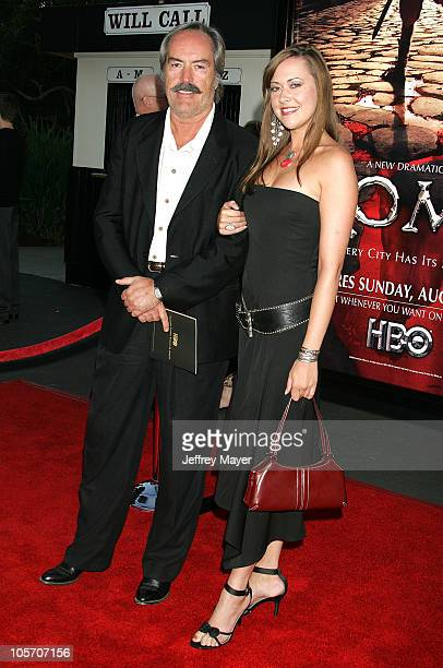 Powers Boothe and his daughter Parisse Boothe during HBO's Rome Los Angeles Premiere Arrivals at Wadsworth Theater in Westwood California United...