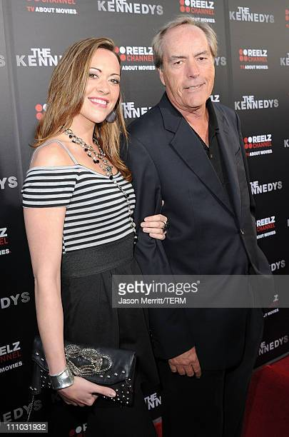 Powers Boothe and Parisse Boothe arrive at The ReelzChannel World premiere of 'The Kennedys' at AMPAS Samuel Goldwyn Theater on March 28 2011 in...