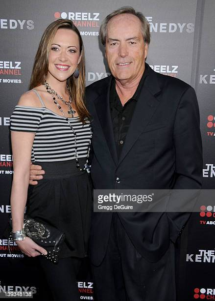 Powers Boothe and Parisse Boothe arrive to the World Premiere of The Kennedys at The Academy Theater on March 28 2011 in Beverly Hills California