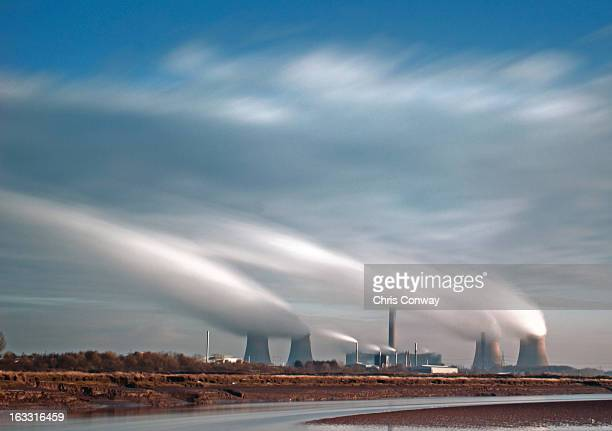 powerstation long exposure - warrington england stock pictures, royalty-free photos & images