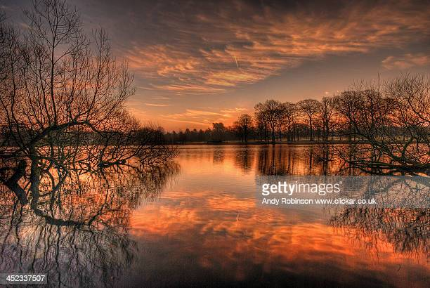 poynton pool sunrise - stockport stock-fotos und bilder