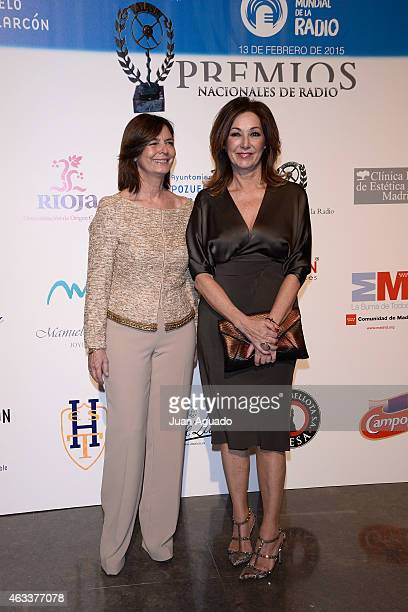 Pozuelo de Alarcon Mayor Paloma Adrados and Spanish journalist Ana Rosa Quintana attend 'Premio Nacional de Radio 2015' Awards at the Mira Theater on...