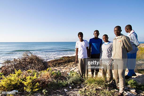 Pozzallo, Sicily: Just-Arrived African Migrants to Sicily's Shores