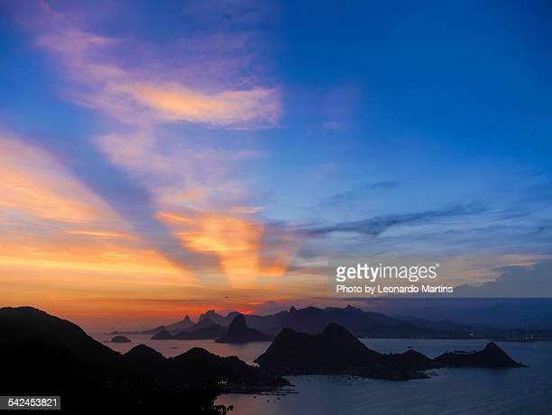 O Pôr do Sol visto de Niterói