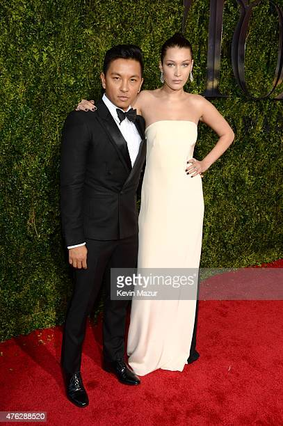 Prabal Gurung and Bella Hadid attend the 2015 Tony Awards at Radio City Music Hall on June 7 2015 in New York City