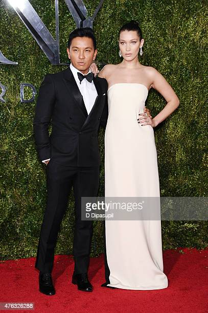 Prabal Gurung and Bella Hadid attend the American Theatre Wing's 69th Annual Tony Awards at Radio City Music Hall on June 7 2015 in New York City