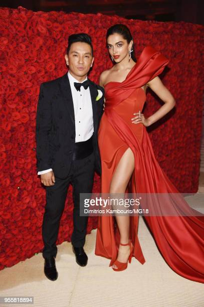 Prabal Gurung and Deepika Padukon attend the Heavenly Bodies Fashion The Catholic Imagination Costume Institute Gala at The Metropolitan Museum of...