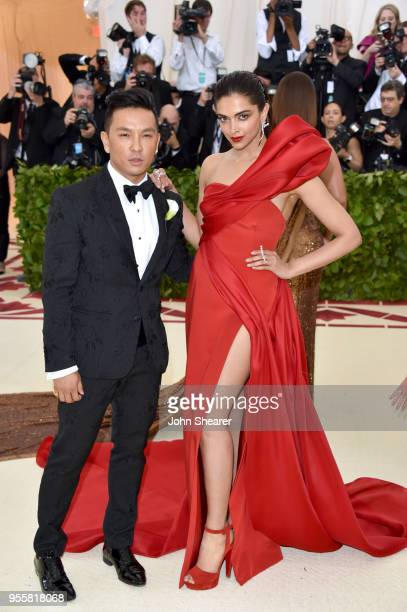 Prabal Gurung and Deepika Padukon attends the Heavenly Bodies Fashion The Catholic Imagination Costume Institute Gala at The Metropolitan Museum of...