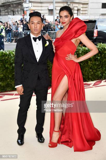 Prabal Gurung and Deepika Padukone attend the Heavenly Bodies: Fashion & The Catholic Imagination Costume Institute Gala at The Metropolitan Museum...