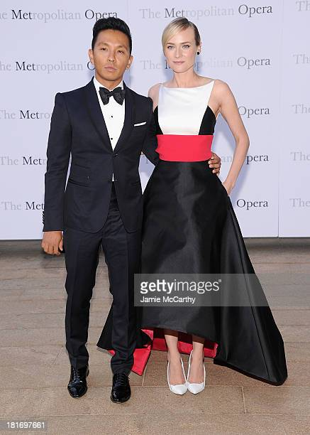 Prabal Gurung and Diane Kruger attend the Metropolitan Opera Season Opening Production Of Eugene Onegin at The Metropolitan Opera House on September...
