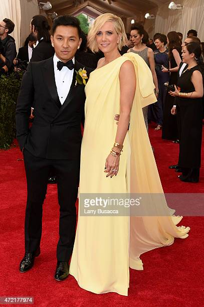 Prabal Gurung and Kristen Wiig attend the 'China Through The Looking Glass' Costume Institute Benefit Gala at the Metropolitan Museum of Art on May 4...