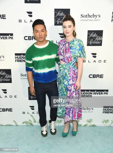 Prabal Gurung and Nell Diamond attend Hudson River Park Friends Playground Committee Fourth Annual Luncheon at Current at Chelsea Piers on January 25...