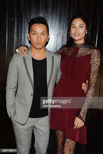Prabal Gurung and Varsha Thapa attend Nate Berkus and Next Generation Nepal Honor Prabal Gurung at Penthouse at the Park on June 7 2016 in New York...