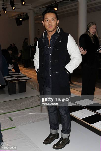Prabal Gurung attends the Public School fashion show during MADE Fashion Week Fall 2014 at Milk Studios on February 9 2014 in New York City