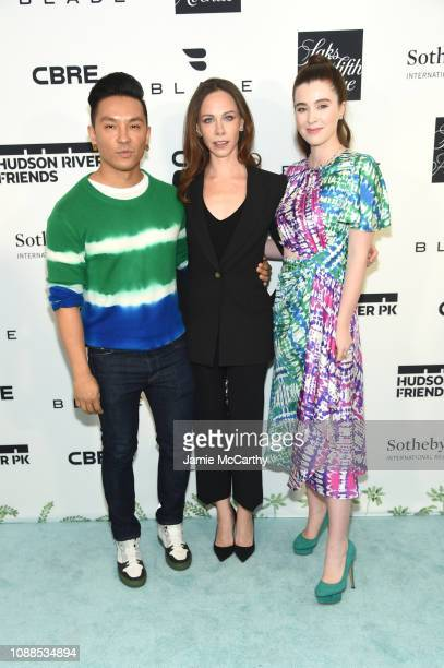 Prabal Gurung Barbara Pierce Bush and Nell Diamond attend Hudson River Park Friends Playground Committee Fourth Annual Luncheon at Current at Chelsea...