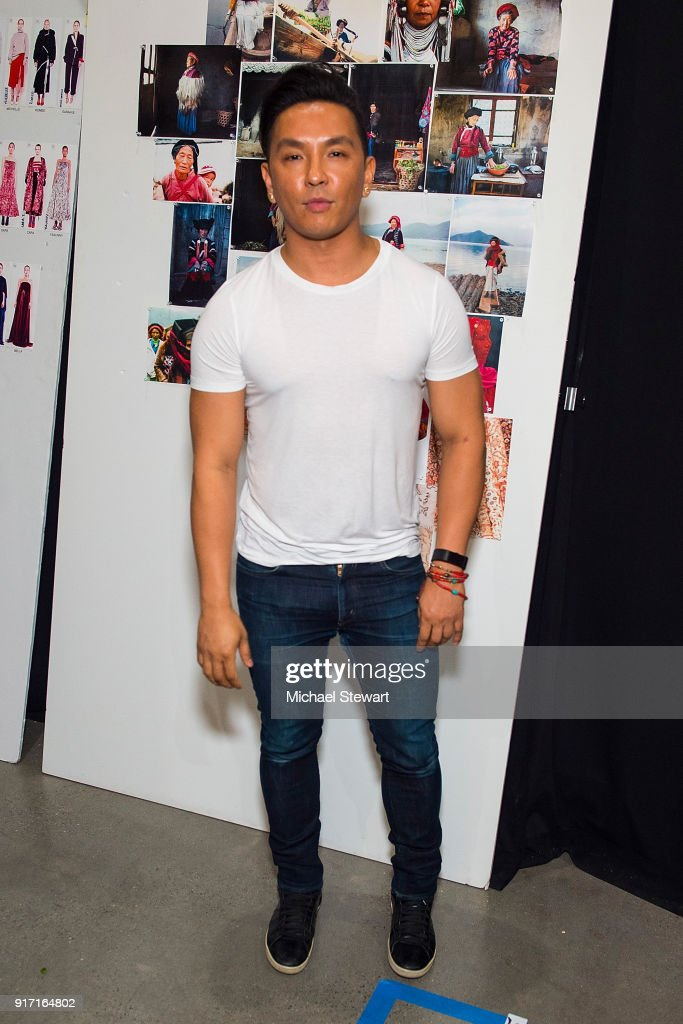 Prabal Gurung poses backstage before his fashion show during New York Fashion Week at Gallery I at Spring Studios on February 11, 2018 in New York City.