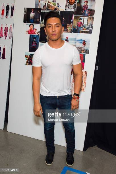 Prabal Gurung poses backstage before his fashion show during New York Fashion Week at Gallery I at Spring Studios on February 11 2018 in New York City