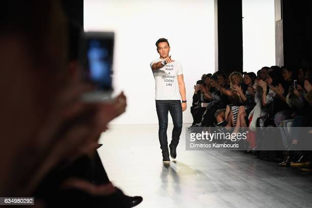 Prabal Gurung walks the runway during the finale of the Prabal Gurung collection during New York Fashion Week The Shows at Gallery 1 Skylight...