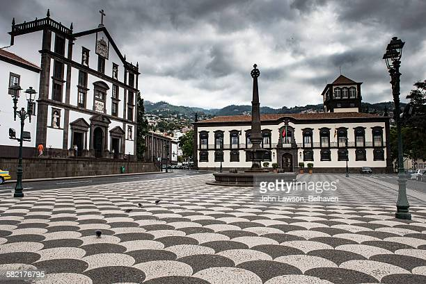praca do municipio, funchal, madeira - funchal stock pictures, royalty-free photos & images