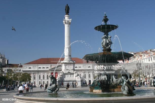praca dom pedro - ロッシオ広場 ストックフォトと画像
