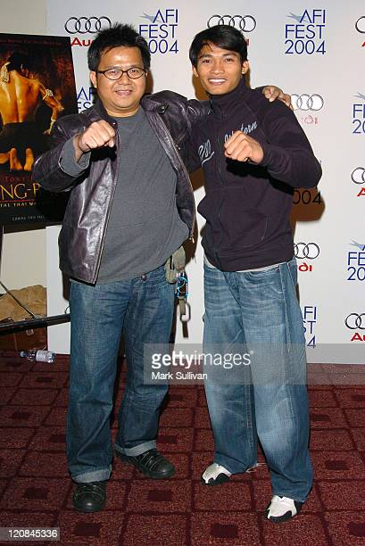 Prachya Pinkaew director and Tony Jaa during 2004 AFI Film Festival 'Ong Bak Thai Warrior' Premiere Arrivals at ArcLight Hollywood in Hollywood...
