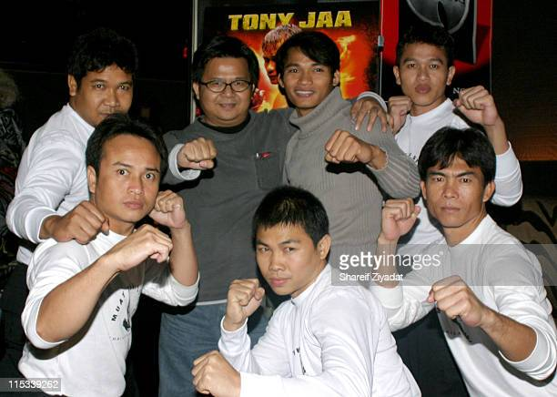 Prachya Pinkaew director and Tony Jaa with Thai Warriors