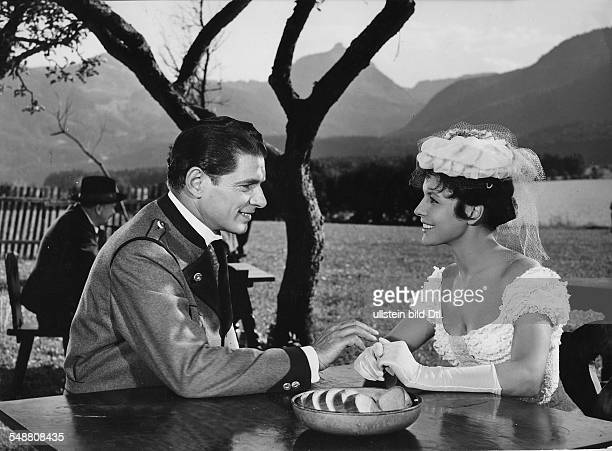 Prack Rudolf Actor * Scene from the movie 'Kaiserball' with Sonja Ziemann Actress Dancer Singer Germany * Directed by Franz Antel Austria 1956...