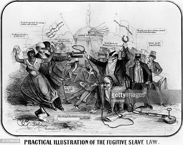 Practical Illustration of the Fugitive Slave Law Print