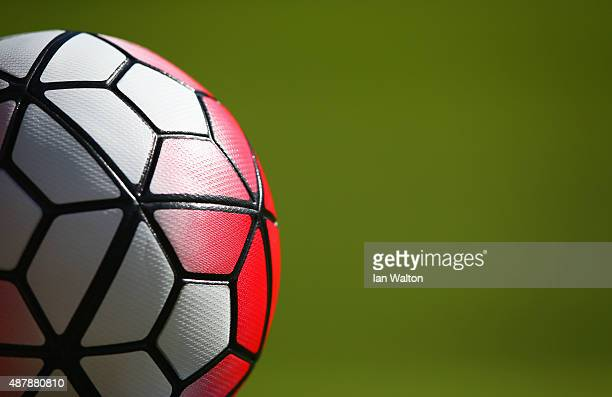 Practice ball prior to the Barclays Premier League match between Watford and Swansea City at Vicarage Road on September 12 2015 in Watford United...