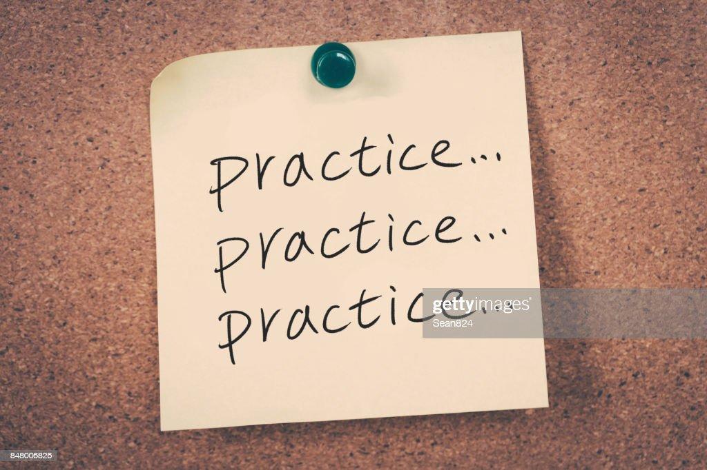 practice concept : Stock Photo