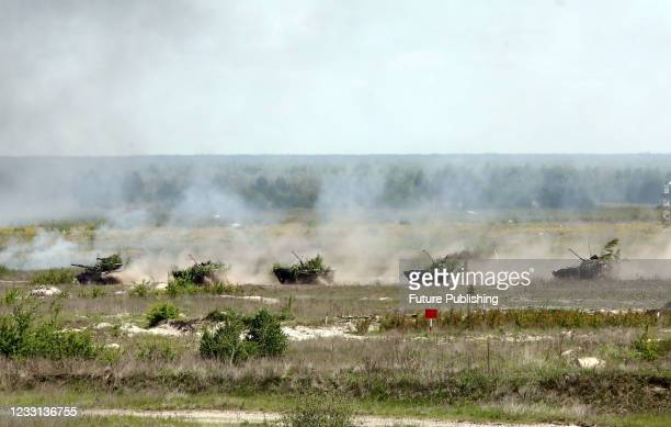 Practice during the tactical battalion exercises of a separate mechanized brigade of the North operational command of the Land Forces of the Armed...