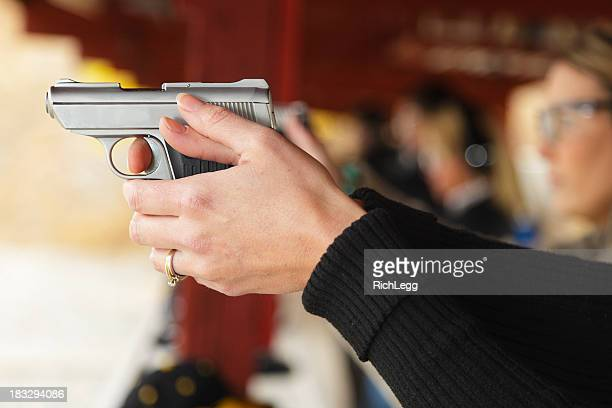 practicing at the shooting range - trigger stock photos and pictures