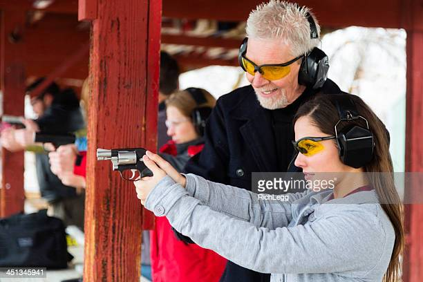 practicing at the shooting range - target shooting stock pictures, royalty-free photos & images