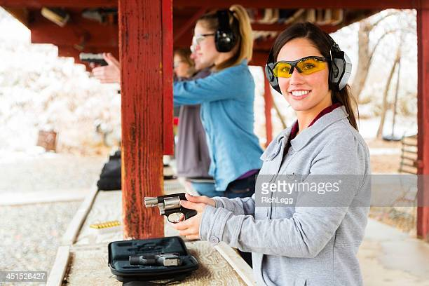 practicing at the shooting range - ear protection stock pictures, royalty-free photos & images