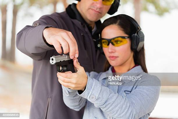 practicing at the shooting range - gun stock pictures, royalty-free photos & images
