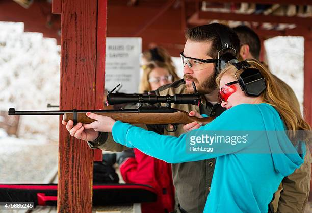 practicing at the shooting range - rifle stock pictures, royalty-free photos & images