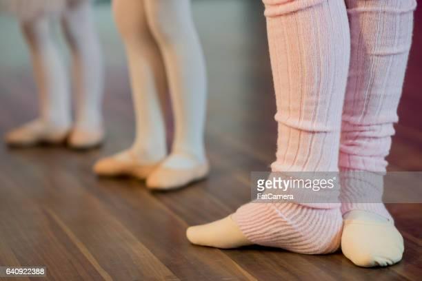 Practicing Ballet in the Studio