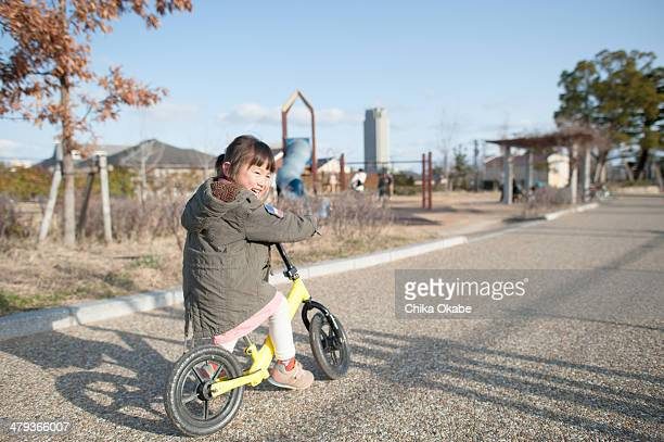 practicing bicycle