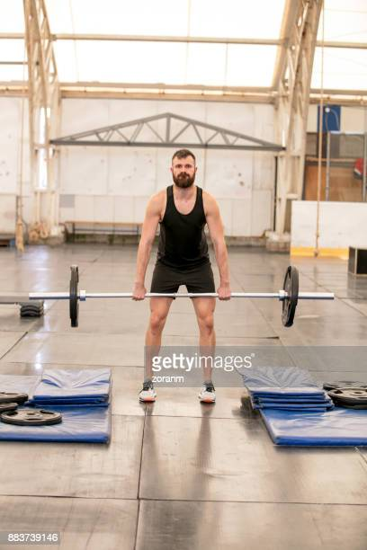 Practicing deadlifts