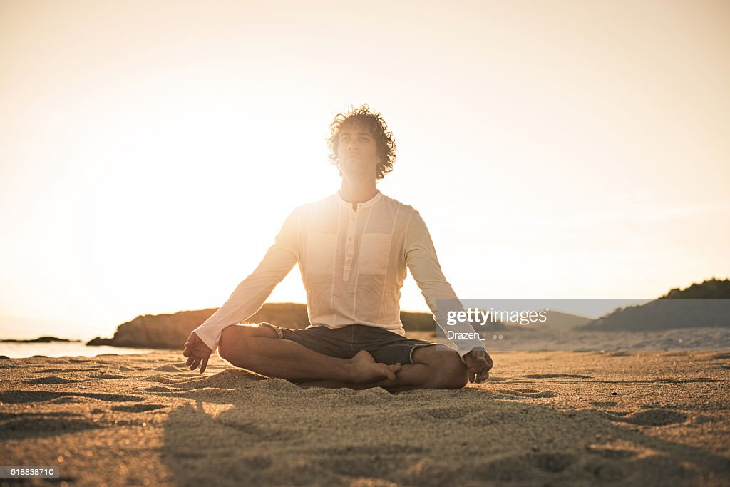 Practicing Yoga And Meditation In Summer For Healthy Lifestyle High Res Stock Photo Getty Images