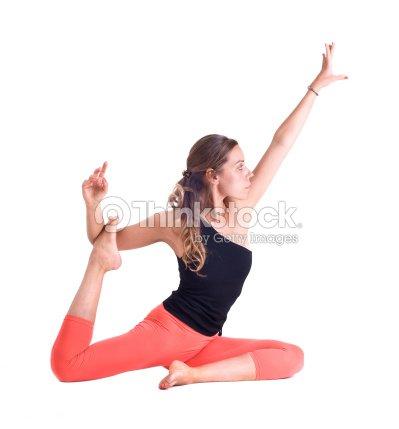 practicing yoga exercises royal pigeon eka pada