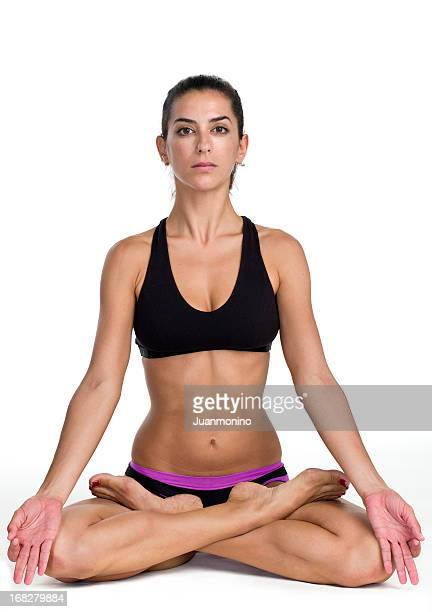 practicing zen like yoga - soles pose stock pictures, royalty-free photos & images