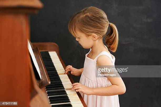 Practising for her recital