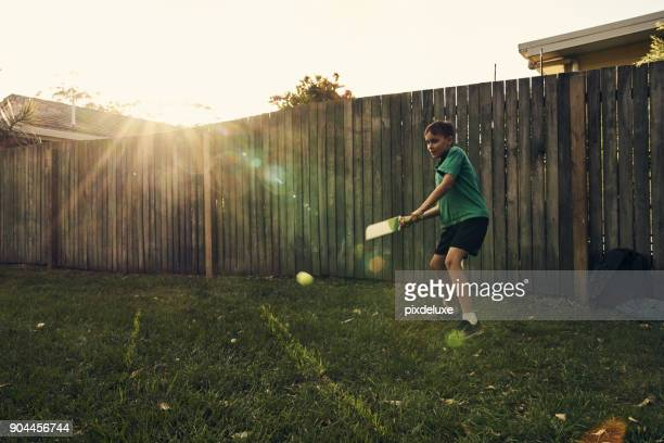 practising his skills - sport of cricket stock pictures, royalty-free photos & images