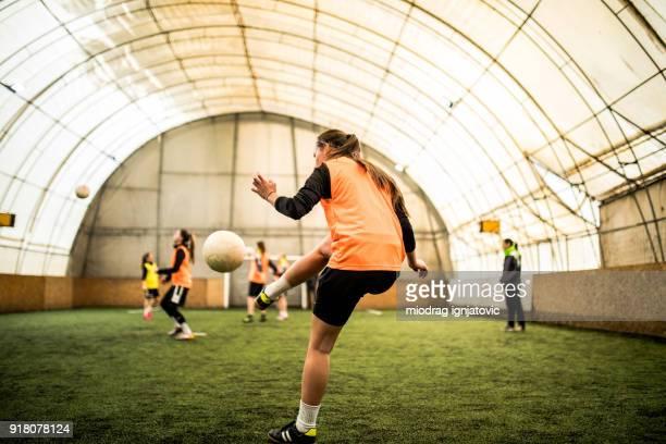 Praktizierenden Fußball